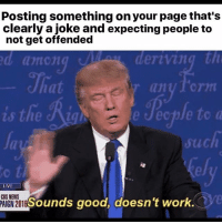 America, Funny, and Instagram: Posting something on your page that's  clearly a joke and expecting people to  not get offended  d among  deriving th  at  al  such  ely  to t  Sounds good, doesn't work. Triggered snowflakes all over... 🔴www.TooSavageForDemocrats.com🔴 JOINT INSTAGRAM: @rightwingsavages Partners: 🇺🇸 @The_Typical_Liberal 🇺🇸 @theunapologeticpatriot 🇺🇸 @DylansDailyShow 🇺🇸 @keepamerica.usa 🇺🇸@Raised_Right_ 🇺🇸@conservative.female 🇺🇸 @too_savage_for_liberals 🇺🇸 @Conservative.American DonaldTrump Trump 2A MakeAmericaGreatAgain Conservative Republican Liberal Democrat Ccw247 MAGA Politics LiberalLogic Savage TooSavageForDemocrats Instagram Merica America PresidentTrump Funny True SecondAmendment