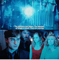 Memes, 🤖, and Fallen: POTTERSCENES  The Ministry has fallen. The Minister  of Magic is dead. They are coming. [10.02.17] Happy Birthday to one of my best friends, Shauna, @nevillescardigan! Send her your birthday wishes! X — Q: What's your Patronus?