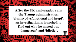 "Reddit, Trump, and Jumped: Pottery  stoke  Trent, Sta  find out why he missed out  an investigation is launched to  'clumsy, dysfunctional and inept',  'dangerous' and 'idiotic'.  Derpi  the Trump administration  After the UK ambassador calls  sily affor  motor  Ma"" Instead  ry  mon  guard bus  EOR YOU  ANE OTNAS  Experu  the pred  pronts  944 2de  Graham  histery,  st year.  lpins  Mark  A  ons and  jumped  The  R MAR How can he do that."