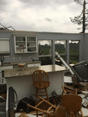 Pound cake survives Easter tornado: Pound cake survives Easter tornado