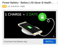 download more ram: Power Battery - Battery Life Saver & Health :  Ad  4.5 ★★★★★ FREE  1 CHARGE3 DAYS  Download free Battery App  INSTALL