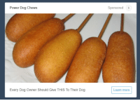 aviculor:My dog wrote this article after she saw me eating corn dogs: Power Dog Chews  Sponsored s  Every Dog Owner Should Give THIS To Their Dog  Learn more aviculor:My dog wrote this article after she saw me eating corn dogs