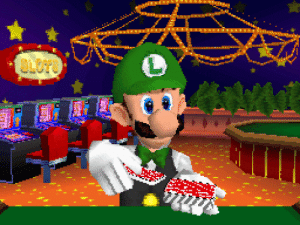 powerburial:  letshearitforthisclown:   suppermariobroth: Luigi shuffling up for one of his casino minigames in Super Mario 64 DS.  isn't gambling illegal in japan   luigis italian  : powerburial:  letshearitforthisclown:   suppermariobroth: Luigi shuffling up for one of his casino minigames in Super Mario 64 DS.  isn't gambling illegal in japan   luigis italian