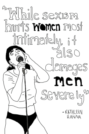 "Tumblr, Blog, and Http: Pp  esexi  nay, it  also  dlemeges  severely  KATHLEEN  HANNA liberaljane:kathleen hanna ; ""While sexism hurts women most intimately, it also damages men severely"