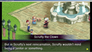 "Tumblr, Blog, and Game: PPSSPP v1.4.2-ULUS1 0400 : Crimson Gem Saga"".  Fle Emulation Debug Game Settings Hep  Scruffy the Clown  But in Scruffy's next reincarnation, Scruffy wouldn't mind  being a janitor or something. scifiseries:  I think I found some references in Crimson Gem Saga. Aroo."