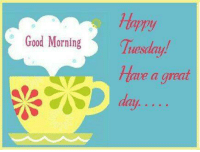 Good Morning: ppy  Good Morning  Tuesday  Have a great  D day. Good Morning