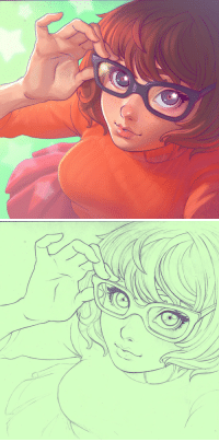 Target, Tumblr, and Blog: pr1nceshawn:  Velma Dinkley by Ilya Kuvshinov