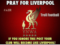 React it with Sad Emoticons only! (😢)  1 like = 1 Prayer 😆: PRAY FOR LIVERPOOL  #AZR  Troll Football  YNWA  IF YOU IGNORE THIS POST YOUR  CLUB WILL BECOME LIKE LIVERPOOL! React it with Sad Emoticons only! (😢)  1 like = 1 Prayer 😆