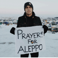 From StandingRock ✊ | My brothers and sisters in Syria, we are praying for you here in Standing Rock. May the medicine in our songs and prayers reach you and help heal your suffering. We pray that the aggressors immediately cease their destructive ways and that the world stands with you like they have with us on our sacred ancestral lands. We embrace you as the bombs fall and we will be there to hold you when they stop. Photo and banner by: @jadethemighty • Repost @tomaskarmelo Aleppo SaveAleppo Syria Solidarity DefendHumanity DefendOurRelatives ReclaimYouPower: PRAYER  FOR From StandingRock ✊ | My brothers and sisters in Syria, we are praying for you here in Standing Rock. May the medicine in our songs and prayers reach you and help heal your suffering. We pray that the aggressors immediately cease their destructive ways and that the world stands with you like they have with us on our sacred ancestral lands. We embrace you as the bombs fall and we will be there to hold you when they stop. Photo and banner by: @jadethemighty • Repost @tomaskarmelo Aleppo SaveAleppo Syria Solidarity DefendHumanity DefendOurRelatives ReclaimYouPower