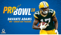 RT @packers: #Packers WR @tae15adams has been named to the #ProBowl!   📰: https://t.co/PxBHGT9q9W   #GoPackGo https://t.co/sxUzEzxjbz: PRBOWL  18  DAVANTE ADAMS  WR . GREEN BAY PACKERS  PRO BOWL RT @packers: #Packers WR @tae15adams has been named to the #ProBowl!   📰: https://t.co/PxBHGT9q9W   #GoPackGo https://t.co/sxUzEzxjbz