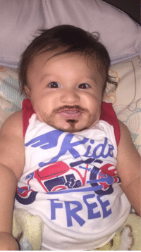 Snapchat turned my 4month old into a man child.: PRE  FREE Snapchat turned my 4month old into a man child.