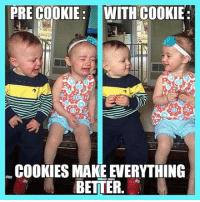 <p>Cookies Fix Everything.</p>: PRECOOKIE: WITH COOKIE:  COOKIES MAKE EVERYTHING  BETTER <p>Cookies Fix Everything.</p>