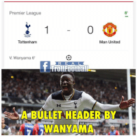 What a Bullet 🔥: Premier League  6'  Man United  Tottenham  V Wanyama 6  R E A L  BULLET HEADER BY What a Bullet 🔥