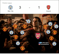 Arsenal taking L for the team https://t.co/VIXPbBl6jf: Premier League  CHES  3  CITY  Arsenal  Man. City  CHES  CHES  CITY  CHES  HE  HES  CITY  HES  CITY  NITE  CHEs  CHES  WITE  CHES  CITY  WITE  Arsenal  CITY  CITY  CHES  HES  NITE  NITE  CHES  fTrollFootball  TheFootballTroll  CHES  CITY  CITY Arsenal taking L for the team https://t.co/VIXPbBl6jf
