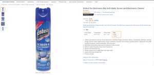 """Amazon, Amazon Prime, and Computers: Premium Audio  Home Audio & Theater  Headphones  Home Theater Systems  Speakers  Wireless Audio  Stereo System Components-  Deals  Accessories  Electronics Accessories & Supplies Audio & Video Accessories Cleaning & Repair Disc Cleaners  Endust for Electronics 8oz Anti-Static Screen and Electronics Cleaner  by Endust  230 ratings