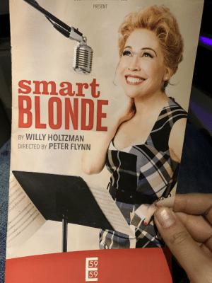 Memes, Andrea, and 🤖: PRESENT  smart  BLONDE  BY WILLY HOLTZMAN  DIRECTED BY PETER FLYNN  59  59 Went with Tommy Kail to see THE most talented person tonight. Sure enough, there's no one better. National treasure Andréa BURNS y'all  ❤️❤️❤️❤️❤️❤️❤️❤️❤️❤️❤️❤️ https://t.co/smTAXwBkCQ