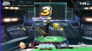 Finals, Memes, and Smashing: PRESENTED BY  AONE  7:00.00  Na Battle! NEte Four) Battle! (Solgaleo/Lunala)  GAM  ON FE  Oor  et0  SMASH  0%  Ally (L  Liquid Dabuz  THE PARAMOUNT  GRAND FINALS ⚔️ Smash Bros Tournament 📍Paramount 2019  🗣 @VGBootCamp  Full video: https://t.co/aGffZBoYx6 https://t.co/rv81jYnyrR