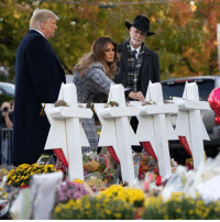 Donald Trump, Life, and Melania Trump: President Donald Trump and First Lady Melania Trump met with Tree of Life Rabbi Jeffrey Myers in Pittsburgh to pay their respects to the victims of the synagogue shooting. Tap the link in our bio 👆to read more about the visit that was greeted by hundreds of protestors as the first of the 11 victims are laid to rest. Pittsburgh DonaldTrump TreeofLifeSynagogue BBCNews