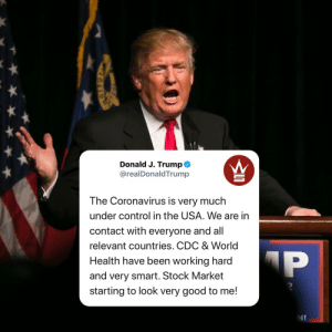 President #DonaldTrump had this to say about the #CoronaVirus in the #UnitedStates...thoughts?👇🤔 @realDonaldTrump https://t.co/78TofC7609: President #DonaldTrump had this to say about the #CoronaVirus in the #UnitedStates...thoughts?👇🤔 @realDonaldTrump https://t.co/78TofC7609