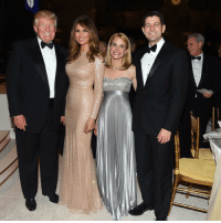 President-elect DonaldTrump and MelaniaTrump pose for a picture with Speaker Paul Ryan and his wife Janna at last night's Candlelight dinner. inauguration (Photo Credit: Rex Features via AP Images) Trump45: President-elect DonaldTrump and MelaniaTrump pose for a picture with Speaker Paul Ryan and his wife Janna at last night's Candlelight dinner. inauguration (Photo Credit: Rex Features via AP Images) Trump45