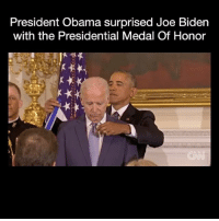 Goals? Amazing!!!💕💕 - Via-CNN: President Obama surprised Joe Biden  with the Presidential Medal Of Honor Goals? Amazing!!!💕💕 - Via-CNN
