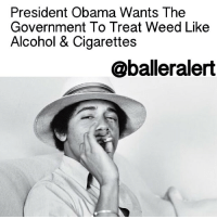 """President Obama Wants The Government To Treat Weed Like Alcohol & Cigarettes - blogged by: @eleven8 - ⠀⠀⠀⠀⠀⠀⠀⠀⠀ ⠀⠀⠀⠀⠀⠀⠀⠀⠀ PresidentObama feels that the Federal Government has some work to do in regards to the way they handle marijuana. ⠀⠀⠀⠀⠀⠀⠀⠀⠀ ⠀⠀⠀⠀⠀⠀⠀⠀⠀ In the past, POTUS has admitted to smoking weed. In fact, he's the only president who's ever admitted to that fact. He tells Rolling Stone in a recent interview that he believes marijuana should be treated as a """"public health"""" issue, and not a criminal issue. ⠀⠀⠀⠀⠀⠀⠀⠀⠀ ⠀⠀⠀⠀⠀⠀⠀⠀⠀ """"Look, I've been very clear about my belief that we should try to discourage substance abuse,"""" he told Rolling Stone, in response to a question about the failures of the War on Drugs. """"And I am not somebody who believes that legalization is a panacea. But I do believe that treating this as a public-health issue, the same way we do with cigarettes or alcohol, is the much smarter way to deal with it."""" ⠀⠀⠀⠀⠀⠀⠀⠀⠀ ⠀⠀⠀⠀⠀⠀⠀⠀⠀ In other words President Obama wants the government to stop locking people up over weed and slap a warning label on it. ⠀⠀⠀⠀⠀⠀⠀⠀⠀ ⠀⠀⠀⠀⠀⠀⠀⠀⠀ President Obama then broke down the laws and who's in charge of enforcing them. """"Typically how these classifications are changed are not done by presidential edict but are done either legislatively or through the DEA,"""" he said. """"As you might imagine, the DEA, whose job it is historically to enforce drug laws, is not always going to be on the cutting edge about these issues…it is untenable over the long term for the Justice Department or the DEA to be enforcing a patchwork of laws, where something that's legal in one state could get you a 20-year prison sentence in another."""": President Obama Wants The  Government To Treat Weed Like  Alcohol & Cigarettes  @ball eralert President Obama Wants The Government To Treat Weed Like Alcohol & Cigarettes - blogged by: @eleven8 - ⠀⠀⠀⠀⠀⠀⠀⠀⠀ ⠀⠀⠀⠀⠀⠀⠀⠀⠀ PresidentObama feels that the Federal Government has some work to do in regards to the way they handle """