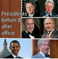 Presidents  before  &  after  office Follow us for more at @Dc Gazette