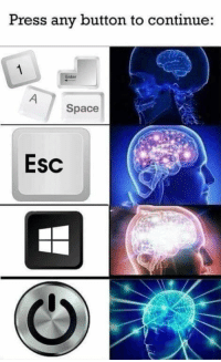 Space, Key, and Press: Press any button to continue:  nter  Space  Esc Press any key to continue