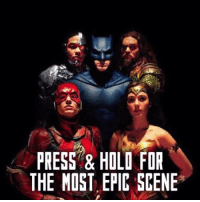 Spoiler alert 🚨 Press only if you watched Justice League Movie  Facebook app only: PRESS & HOLO FOR  THE MOST EPIC SCENE Spoiler alert 🚨 Press only if you watched Justice League Movie  Facebook app only