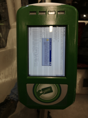 """The Toronto Transit Commissions new presto card system...: PRESTO  File Edit Help  Text  An unexpected eror has occurred in PDSLockdowm.exe.  Select Quit snd then restart this program,  select Details for more informatio  n.  Can't find PInvoke DLL  AGL'.  Details: PDSLockdowm.exe  MissingMethodException  Can't find PInvoke DLL  AGL  stem. Windows. Forms.ArnlicationThreadCot ext. Met  Context)  stem. Windows  Windows CE Networking  OK  A Eystem Windo TS  at System. Windows  at AM. DM. PDSInst  DHCP was unable to obtain an IP address. If the  netcard is removable, then you can remove/reinsert it  to have DHCP make andther attempt to obtain an IP  address for it. Otherwise  address.  at AM DM PDSInste  you can statically assign an  Caption: PDSLockdom  Title  Error  Text  PDSLockdow  MissingMethodException  Can't find PInvoke DLL  AGL""""  t System. Windows.Forms. ApplicationThreadContext.  at System. WindowS. Forms. Control. InitInstance (WNT wnt, UInt32 duStyle)  et System. Windows.Forms.Control..ctor (WNT unt, UInt32 dwStyle)  at System. Windows.Forms.ContainerControl..ctor (WNT TWnt, UInt32 dwStyle)  at AM. DM. PDSInstaller. Lockdown. frmLockdown..ctor()  at AM.DM. PDSInstaller. Lockdown. Program. Main()  t Context ()  Details: <none> The Toronto Transit Commissions new presto card system..."""