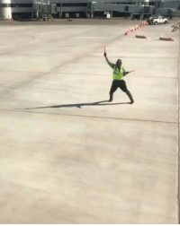 9gag, Memes, and Happy: Pretty fly for a runway guy. Kyran Ashford is the happiest operator at the airport. ✈️ Follow @9gag - - 📷@terrymcbridemusic - - 9gag airport happy employeeofthemonth RochesterNY southwest