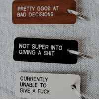 Pretty Good At: PRETTY GOOD AT  BAD DECISIONS  NOT SUPER INTO  GIVING A SHIT  CURRENTLY  UNABLE TO  GIVE A FUCK