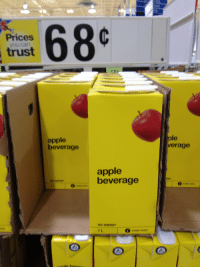 """Apple, Juice, and Meme: Prices  you can  trust  apple  beverage  ple  verage  apple  beverage  no name  0  no name  1 L <p><a href=""""http://kateordie.tumblr.com/post/165998735957/friendbot-princessrobocop-raccoon-butts"""" class=""""tumblr_blog"""">kateordie</a>:</p><blockquote> <p><a href=""""http://friendbot.tumblr.com/post/162064398114/princessrobocop-raccoon-butts-wow-i-sure-am"""" class=""""tumblr_blog"""">friendbot</a>:</p> <blockquote> <p><a href=""""http://princessrobocop.tumblr.com/post/162064049667/raccoon-butts-wow-i-sure-am-thirsty-for-some"""" class=""""tumblr_blog"""">princessrobocop</a>:</p>  <blockquote> <p><a href=""""http://raccoon-butts.tumblr.com/post/25544930276/wow-i-sure-am-thirsty-for-some-apple-beverage-oh"""" class=""""tumblr_blog"""">raccoon-butts</a>:</p> <blockquote> <p>wow i sure am thirsty for some apple beverage oh boy</p> </blockquote> <p>prices you can trust, products you can't</p> </blockquote>  <p>Graphic Design has gone so minimalistic it's morphed into Uncanny Nondescript. My brain tells me there is apple juice in that container, but my heart feels fear.</p> </blockquote>  <p>Americans really don't understand No Name brand</p> </blockquote>  <p>One of meme man's favorites. </p>"""