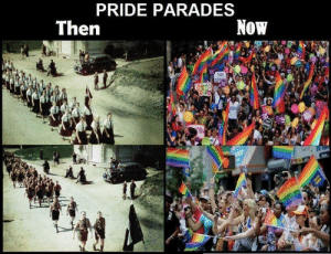 Dank, Memes, and Reddit: PRIDE PARADES  Then  Now  CUSE  YEN does this belong in dankmemes? asking for a friend by MemeMan1984 FOLLOW 4 MORE MEMES.