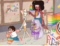 Target, Tumblr, and Beach: PRIDE  SLACE  EAC  CITY  PRIO  ITY  ITY  STEPH  8141  (T ttumbleweed:  Beach City Pride 2k14!!  I'm really proud of this one, I hope you guys like it!