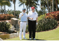 Club, Golf, and Japan: Prime Minister Abe of Japan and myself this morning building an even deeper and better relationship while playing a quick round of golf at Trump International Golf Club.