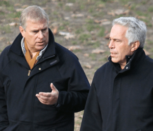 Prince Andrew and convicted child trafficker Jeffrey Epstein discussing somenthing...: Prince Andrew and convicted child trafficker Jeffrey Epstein discussing somenthing...