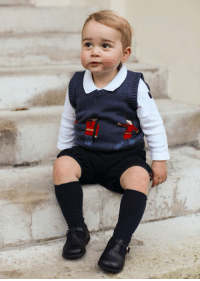 Prince George poses for his first Christmas photo shoot. Images via Duke & Duchess of Cambridge-PA Wire (Getty Image): Prince George poses for his first Christmas photo shoot. Images via Duke & Duchess of Cambridge-PA Wire (Getty Image)