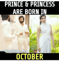 Memes, Prince, and Princess: PRINCE & PRINCESS  ARE BORN IN  OCTOBER