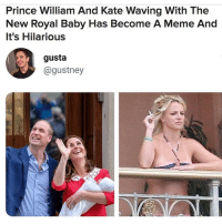 Fffs😮😮😮😮😂😂😂🙋🏾‍♀️❤: Prince William And Kate Waving With The  New Royal Baby Has Become A Meme And  It's Hilarious  gusta  @gustney Fffs😮😮😮😮😂😂😂🙋🏾‍♀️❤
