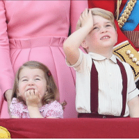 Princess Charlotte and Prince George of Cambridge were show stealers during the Trooping the Colour parade. 😍 royals TMZ (Get more at @toofabnews ): Princess Charlotte and Prince George of Cambridge were show stealers during the Trooping the Colour parade. 😍 royals TMZ (Get more at @toofabnews )