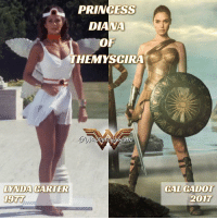 Amazonian Royalty 40 Years of Live-Action Wonder with @reallyndacarter and @gal_gadot * Lynda Carter image from Season 2, provided by Vonder Voman: PRINCESS  DIANA  OF  THEMYSCIRA  LYNDA CARTER  GAL GADOT  2017 Amazonian Royalty 40 Years of Live-Action Wonder with @reallyndacarter and @gal_gadot * Lynda Carter image from Season 2, provided by Vonder Voman