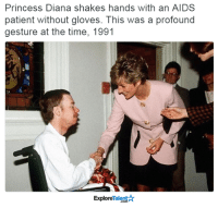 Memes, Angel, and Angels: Princess Diana shakes hands with an AIDS  patient without gloves. This was a profound  gesture at the time, 1991  Talent  Explore She was truly an angel here on earth 🙌😢💛