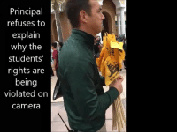 Memes, Camera, and Florida: Principal  refuses to  explain  why the  students  rights are  being  violated on  camera Mr. Pittman, principal of Fleming Island HS, a CCSO officer, and two administrators seized eighty-seven flags from students who defended their Second Amendment. Make This VIRAL! - Tag, Follow or get out of our way 👇🏽 @unclesamsmisguidedchildren unclesamsmisguidedchildren Florida Flogrown southflorida northflorida NRA