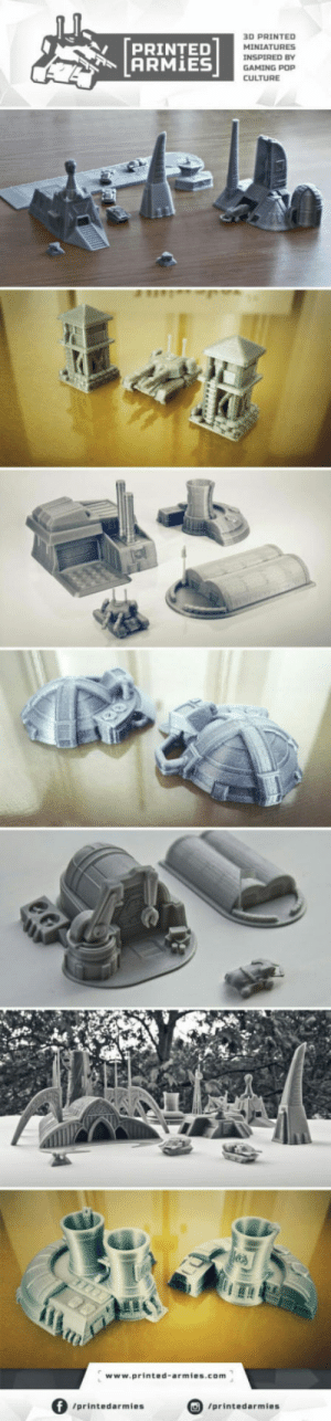 Pop, Gaming, and Com: [pRINTED  ARMİES  3D PRINTED  MINIATURES  INSPIRED BY  GAMING POP  CULTURE  ITI  www.printed-armies.com  」  /printedarmies  /printedarmies Whos into Command  Conquer and 3D-Printing?