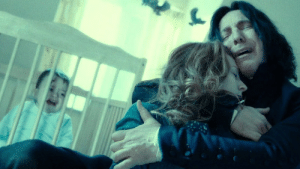 Prior to the first Harry Potter movie (2001), J.K. Rowling told Alan Rickman about Snape's relationship with Lily Potter (before it was revealed to the public) to help him capture the essence of the character. The actor later said that it also confirmed his suspicion that Snape was a double agent.: Prior to the first Harry Potter movie (2001), J.K. Rowling told Alan Rickman about Snape's relationship with Lily Potter (before it was revealed to the public) to help him capture the essence of the character. The actor later said that it also confirmed his suspicion that Snape was a double agent.