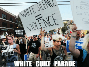 Those darn Crackers and their (shuffles cards) 'Off Color Parades': PRIS  MONEY  RULES  RN  OR  WHITE GUILT PARADE Those darn Crackers and their (shuffles cards) 'Off Color Parades'