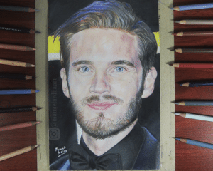 I drew Pewdiepie for 72 hours, I really hope you like it. I have a small time lapse YT channel: Manuel Ardila: PRISMACDLOR  079 7250350  Mawes  Ardila  O@manuelardilaart I drew Pewdiepie for 72 hours, I really hope you like it. I have a small time lapse YT channel: Manuel Ardila