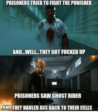 😲😱😲😱 《J-VO》: PRISONERS TRIED TO FIGHT THEPUNISHER  ANDLWELL THEY GOTFUCKEDUP  PRISONERS SAWGHOST RIDER  NNTHEY HAULED ASS BACK TOTHEIR CELLS 😲😱😲😱 《J-VO》