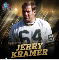 Football, Memes, and Pro: PRO FOOTBALL  HALLF FAME  PRO FOOTBALL HALLOF FAME | CLASS OF 2018  JERRY  KRAMER Jerry Kramer is in! @ProFootballHOF Class of 2018! #PFHOF18 https://t.co/kQdDHMmVfI